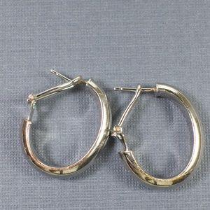 Jewelry - Silver Hoop Earrings with Latch